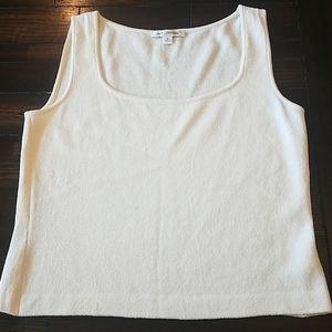 St. John cream sweater tank top